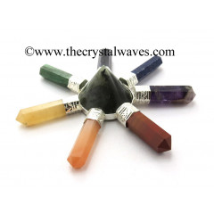 Labradorite Conical Pyramid Chakra Pencil Generator