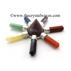 Lepidolite Conical Pyramid Chakra Pencil Generator