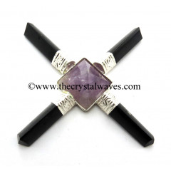 Amethyst Pyramid Pyramid Black Tourmaline Pencil Energy Generator