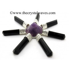 Amethyst Conical Pyramid Pyramid Black Tourmaline Pencil Energy Generator