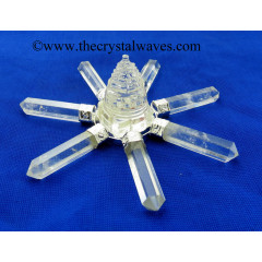 Crystal Quartz Shreeyantra 7 Pc Energy Generator