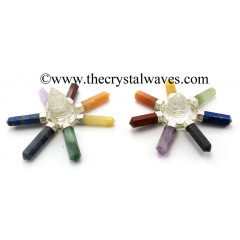 Crystal Quartz Shreeyantra Chakra Pencil Energy Generator