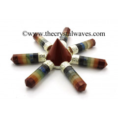 Red Jasper Conical Pyramid Chakra Bonded Pencil Energy Generator