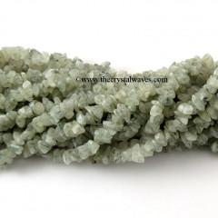 Green Rutilated Quartz Chips Strands