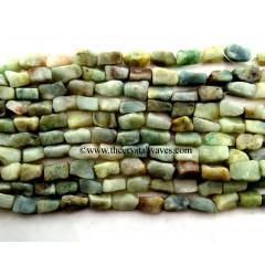 Green Aventurine ( Light) Hand Knapped Rectangle Nuggets