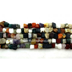 Multi-Color Hand Knapped Square Nuggets