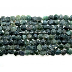 Moss Agate Hand Knapped Coin Nuggets