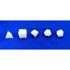 Snow Quartz Quartz 5 Pc Geometry Set
