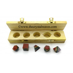 7 Chakra Bonded 5 Pc Geometry Set With Wooden Box