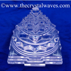 Exclusive Crystal Quartz / Sfatik Hand Carved Shreeyantra