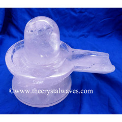 Exclusive Crystal Quartz / Sfatik Hand Carved Shivling