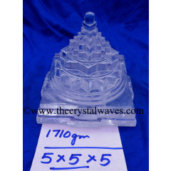 Exclusive Crystal Quartz / Sfatik Hand Carved Shree Yantra