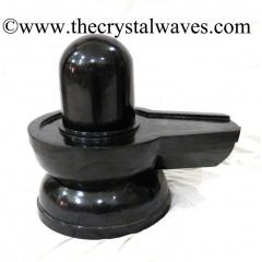 Exclusive Black Agate Hand Carved Shivaling