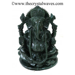 Exclusive Green Aventurine Hand Carved Ganesha