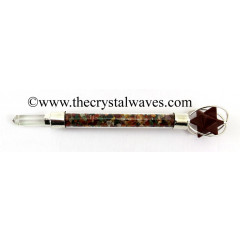 Red Jasper Merkaba Multi Chips Healing Stick