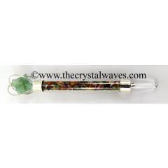 Green Aventurine Merkaba Multi Chips Healing Stick