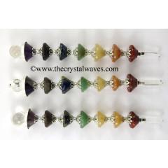 7 Chakra Conical Pyramid Healing Stick