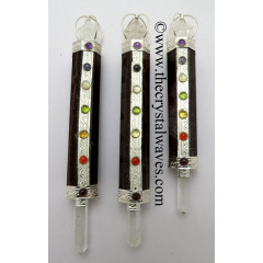 Red Tiger Eye Agate Chakra Healing Stick With Merkaba