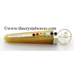Yellow Aventurine Tower Chakra Healing Stick With Merkaba