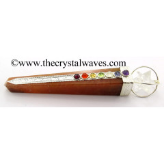 Red Aventurine Tower Chakra Healing Stick With Merkaba