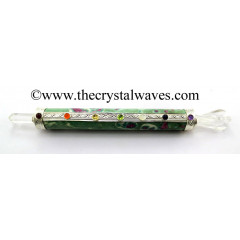 Ruby Zoisite Chakra Healing Stick With Angel