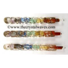 Orgonite Chakra Spiral Healing Stick
