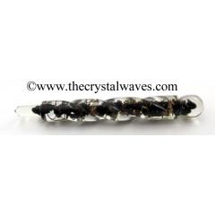 Black Tourmaline Orgone Spiral Healing Stick