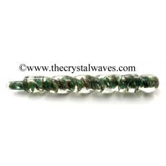 Green Aventurine Orgone Spiral Healing Stick
