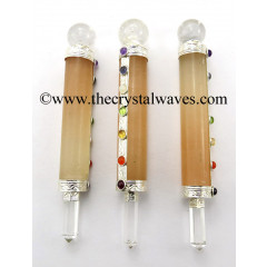 Orange Selenite Smooth Chakra Healing Stick