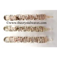 Rose Quartz Orgone Spiral Healing Stick
