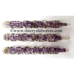 Amethyst Orgone Orgone Spiral Healing Stick