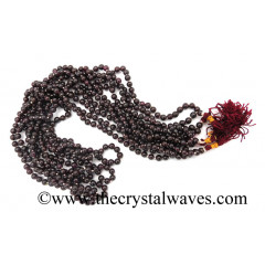 Garnet 4mm Knotted Jap Mala
