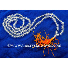 Crystal Quartz A- Grade 4 - 5.50 mm Knotted Jap Mala