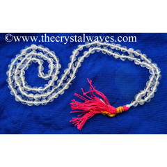 Crystal Quartz B+ Grade 9 - 11 mm Knotted Jap Mala