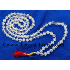 Crystal Quartz B Grade 7 - 9 mm Knotted Jap Mala