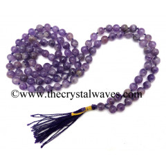 Amethyst Knotted Jap Mala
