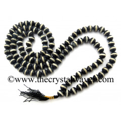Black Single Banded Agate Jap Mala