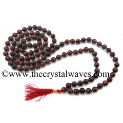Red Tiger Eye Agate Knotted Jap Mala