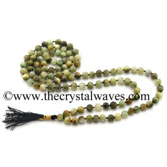 Green Cat's Eye Knotted Jap Mala