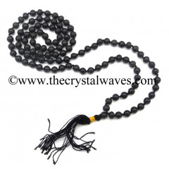 Black Agate Knotted Jap Mala