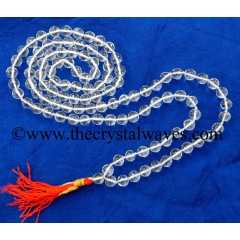 Crystal Quartz Fine Faceted Knotted Japmala