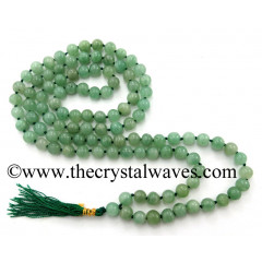 Green Aventurine (Light) Knotted Japmala