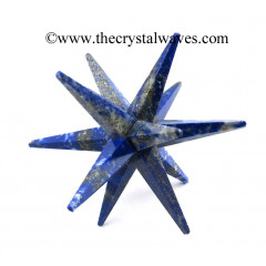 Lapis Lazuli 12 Point Merkaba Star