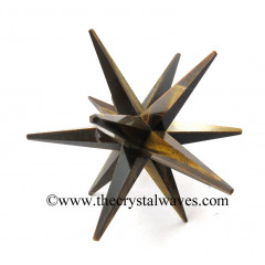 Tiger Eye Agate 12 Point Merkaba Star