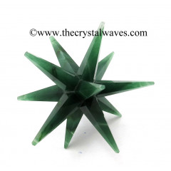 Green Aventurine 12 Point Merkaba Star