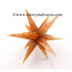 Red Aventurine 12 Point Merkaba Star