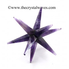 Amethyst 12 Point Merkaba Star