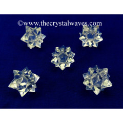 Crystal Quartz A Grade 16 Points Merkaba Star