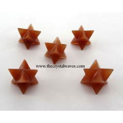 Red Aventurine Big Merkaba Star