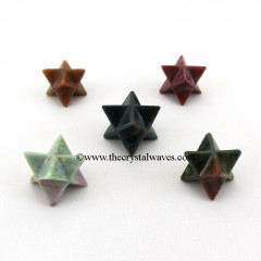 Fancy Jasper Big Merkaba Star
